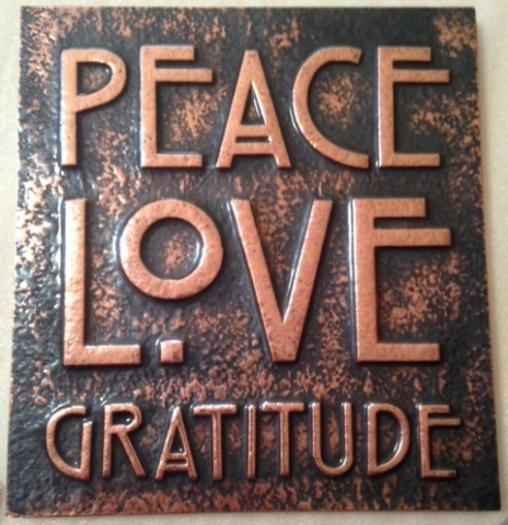 Peace Love Gratitude Wall Art
